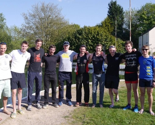 Nick with some of Senior Men City of Bristol rowing club