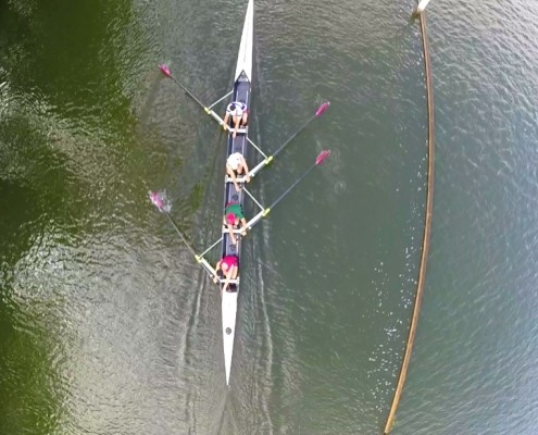 Nick Rowing race training in coxless 4 with alumni squad