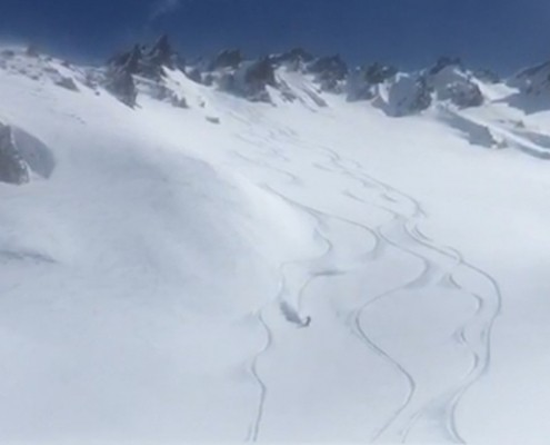 Nick Snowboarding with David Evans France