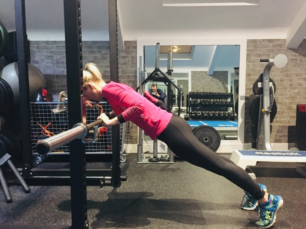 Amy, developing a 'good amount of reps' at a 'good height', at Berkeley Fitness Personal Training Studio, BS6